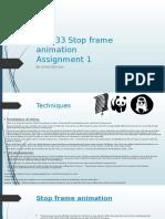 unit 33 stop frame animation