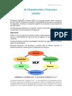 Mof (Manual de Organizaciones y Funciones)
