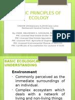 1. Basic Principles of Ecologyslides