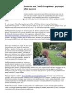 Élargir vos connaissances sur l'aménagement paysager pour améliorer votre maison