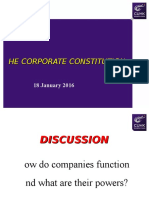 Lecture 2 Corporate Constitution (18 JAN 2016)