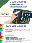 ACC 225 Proactive Tutors/snaptutorial