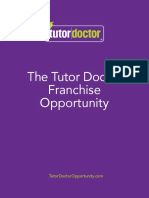 Tutor Doctor Franchise Opportunity Brochure
