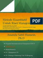 Metode Kuantitatif Untuk Riset Manajemen Full
