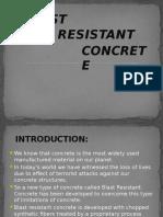 Blast Resistant Concrete