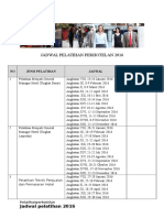 Jadwal Pelatihan Perhotelan_2016