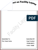 Project of Facility layout
