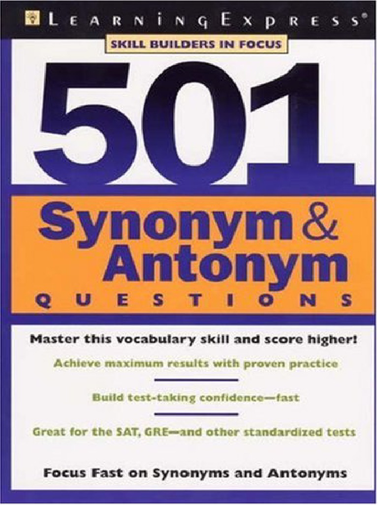 Worksheet Trial Antonym 501 synonyms and antonyms e books