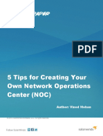 5 Tips for Creating Your Own Network Operations Center