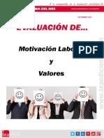 2015 Evaluación de motivación laboral y valoresSeptiembre Motivacion y Valores