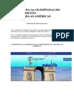 Anúncio Da 1as Olimpíadas Do Conhecimento Oie Americas