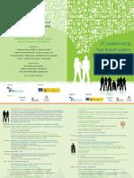 I Conferencia Desarrollo Rural y Discapacidad. Programa