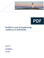 Resilience and Strengthening Resilience in Individuals