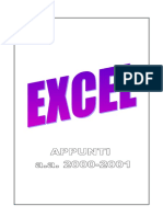 Excel Manuale