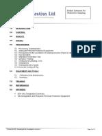 Soil Sampling Method Statement