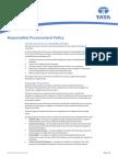 Responsible Procurement Policy