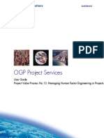 Managing Human Factor Engineering in Projects User Guide