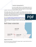 North Korea Hydrogen Bomb Test