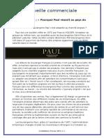 Dossier sur la boulangerie PAUL