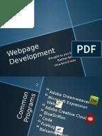 webpage development  1