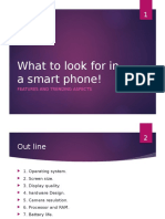 What to Look for in a Smart Phone