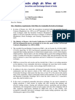 Mandatory requirements/Exit Policy for Commodity Derivatives Exchanges