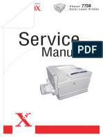 Xerox Phaser 7750 Service Manual