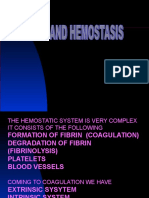 Drugs and Hemostasis