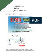 Umi Electronics ServicesRawang Selangor016-6095381, 012-4042786