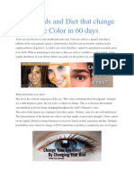 Diet Can Change Eye Color in 60 Days