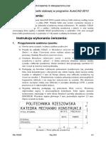 Belka Stalowa-Instrukcja Autocad 2010