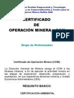 2 Certificado de Operacion Minera COM