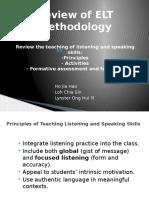 Review of ELT Methodology