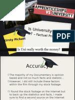 factual production presentation