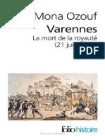 Mona Ozouf - Varennes La Mort de La Royauté Introducción