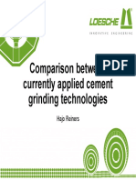 Comparison Between Currently Applied Grinding Technologies