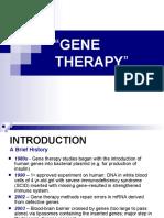 GENE THERAPY - Molecular Biology