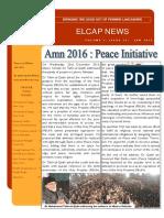 ELCAP E-Newsletter Issue 33 - Jan 2016