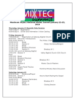 MIXTEC Summit Schedule
