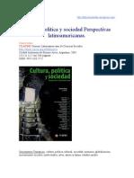 Cultura Política y Sociedad. Perspectivas