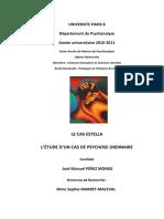 LE CAS ESTELLA L'ÉTUDE D'UN CAS DE PSYCHOSE ORDINAIRE. Memoire Master 2