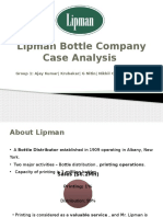 Lipman Bottle Company Case Analysis Group 1