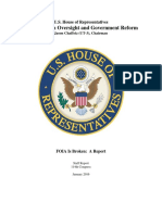 House Oversight Committee report on FOIA