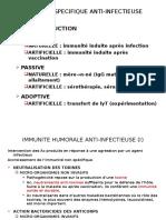 IMMUNITE SPECIFIQUE ANTI-INFECTIEUSE.ppt