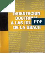 Orientaciones Doctrinales IBR 2015