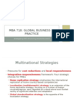 MBA 718 Strategizing and Structuring Internationally