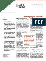 Stronger Job Growth*