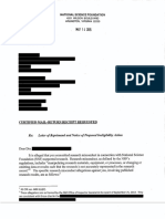 NSF Letter of Reprimand