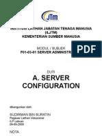 Nota Server Configuration Bahasa Malaysia