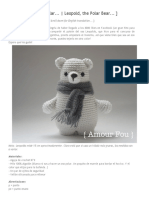 { Amour Fou _ Crochet }_ Leopold - The Polar Bear _ El Oso Polar